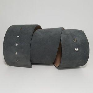 Ann Taylor Womens Leather Suede Wide Waist Belt